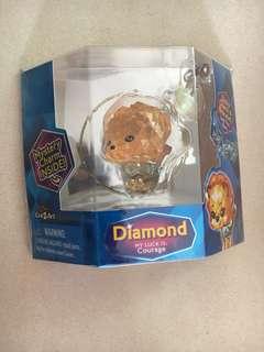 Crystal diamond charm Dog