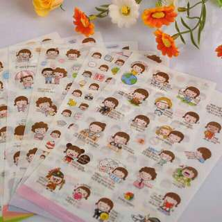Korean Deco Sticker set of 6
