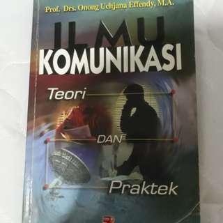 Buku Teori Ilmu komunikasi (drs.onong uchjana)