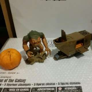 STAR WARS ACTION FLEET SERIES RANCOR & JAWA SANDCRAWLER GALLON 1996 not marvel legends transformers