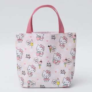 Hello Kitty Tote Lunch Small Zip Bag