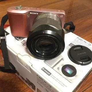 Sony NEX-3微單眼相機粉紅數位鏡頭可換