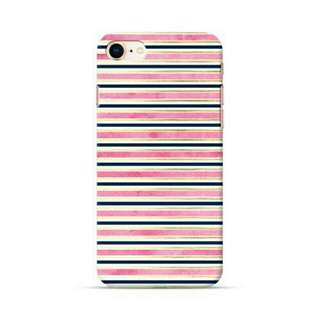 Pink Parallel Stripes iPhone 8 Custom Hard Case