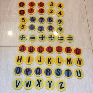 Numerics & Alphabets sticky pad (52pcs)
