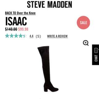 Steve Madden Isaac Over the Knee Boots Size 6