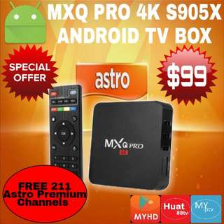 MXQ PRO 4K S905X Android IPTV BOX  (FREE Astro 1 year Premium Subscription) MYHD MYiptv Huat88tv
