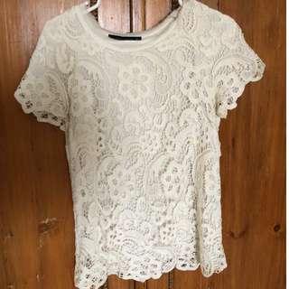Zara Crochet t-shirt