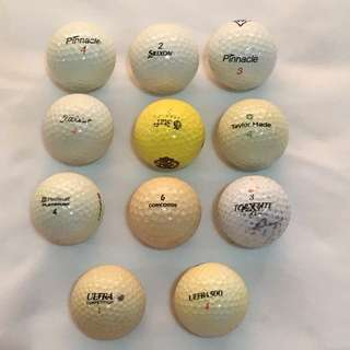CLEARANCE SALES {Golf Accessories - Golf Ball} Pre-owned Golf Ball - 11 Balls