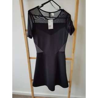 H&M Black Mesh Dress