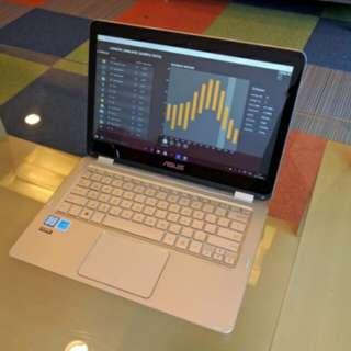 kredit laptop asus Zenbook UX360CA win 10 Ori promo Gratis 1x cicilan
