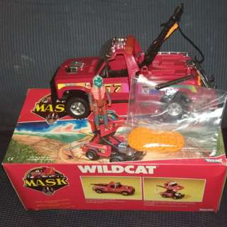 Mask M.A.S.K. WILDCAT with box!!!Venom toy Kenner with full figurine & mask