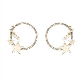 Stardust gold earring set