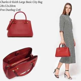 CHARLES & KEITH large basic city bag