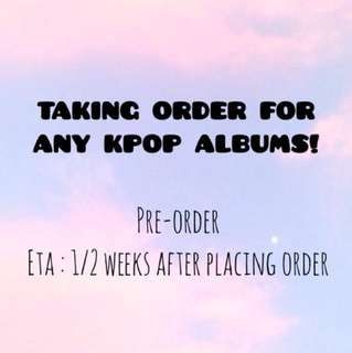 [PRE-ORDER] ANY KPOP ALBUMS