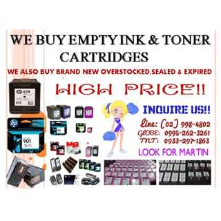 BUYER OF INK AND TONER CARTRIDGES (EMPTY)