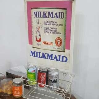 Vintage provision shop rack