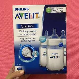 RUSH SALE - Philips Avent - 3 Classic Bottles 9oz