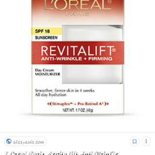 AUTHENTUC LOREAL REVITALIFT ANTI-WRINKLE+FIRMING CREAM