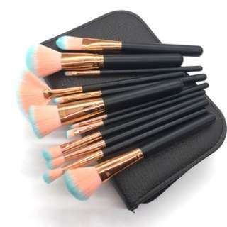 [PO42]12pcs face makeup brush blush eye shadow powder tools + bags
