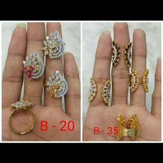 AD stone Rings