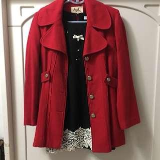 🚚 正韓秋季正紅色薄外套