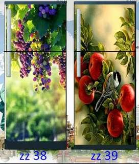 Wallpaper Kulkas 2 Pintu motif buah