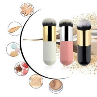 [PO44]3Pcs Flat Soft Brush Foundation Face Makeup Brush Powder Brush