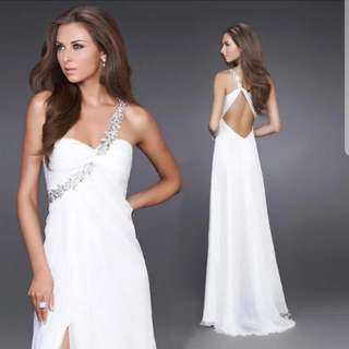 White open back design Dress / evening gown