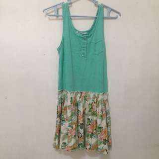 Gingersnaps Green Floral Dress