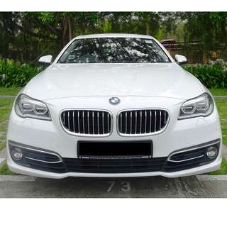 Wedding Car Luxury White BMW 5 Series (F10) with chauffeur