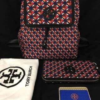 Tory Burch Backpack & Wallet Set