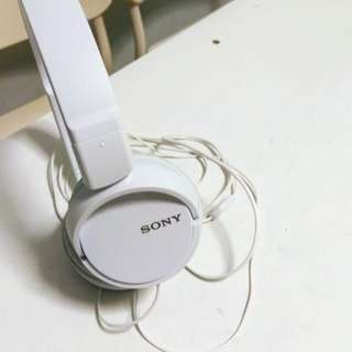 Sony Headphone White MDR-ZX110