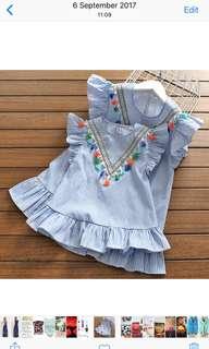 Tassels x stripes dress/top