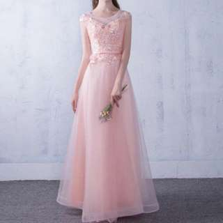 Pink design dress / evening gown