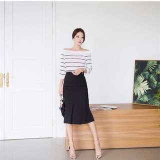 Split Skirt Black