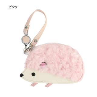 Hedgehog Pass Card Holder (Pink)