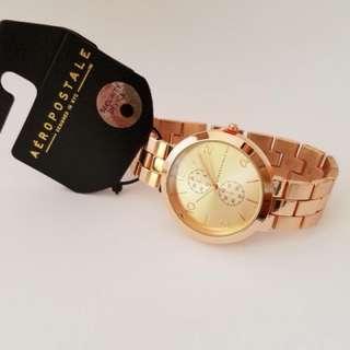Aeropostale Rose Gold Metal Watch