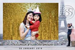4hr Photo Booth for weddings and parties.