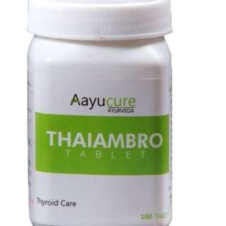 Thaiambro Tablets (100 Tablets) | Ayurvedic Medicine for Thyroid Problems | Aayucure