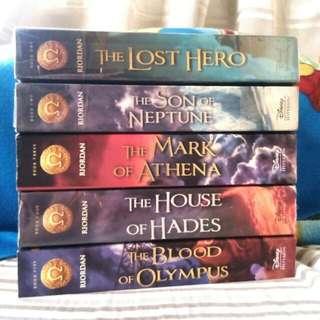 Heroes Of Olympus book series by Rick Riordan ( php490 each/set php2,100 [40% off of its original price] )