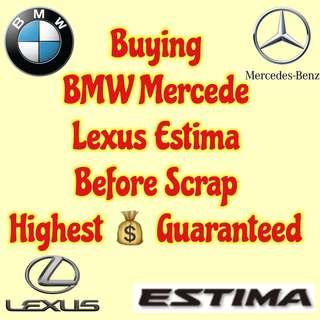 Buying  BMW Mercede  Lexus Estima Before Scrap End of COE Renew COE Export Highest 💰 Guaranteed