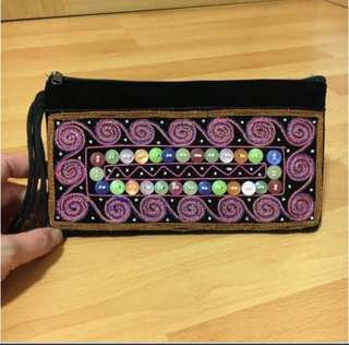 Ethnic Hand-beaded Small Pouch