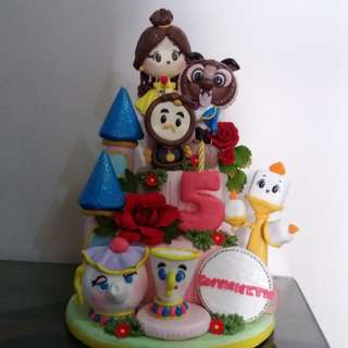 Beauty and the beast foam birthday cake