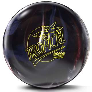 1st Drill. 15lbs 3oz Storm Tropical Storm Carbon/Chrome Bowling Ball
