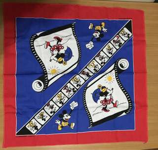 全新 迪士尼米奇老鼠手巾仔 Disney Mickey Mouse And Minnie Handkerchief