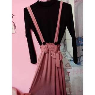 Long dress warna peach
