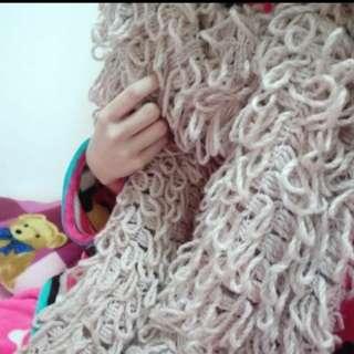 🚚 甜美款厚針織圍巾