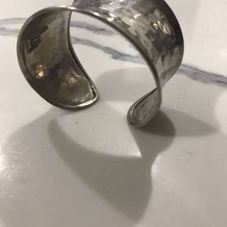 Sterling silver cuff bangle