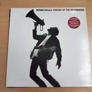 Bryan Adams Waking Up The Neighbours Double Vinyl LP Original Pressing Rare