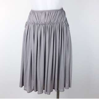 Witchery Rouched Stretch Neutral Skirt Size 10